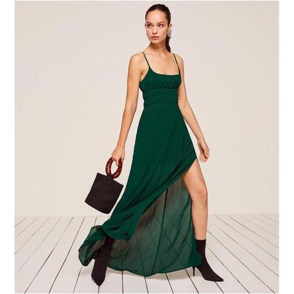 cc5e5e838f2 Reformation Tudor Dress in Green